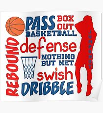 Basketball Words Poster