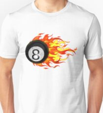 Flaming 8 Ball Unisex T-Shirt