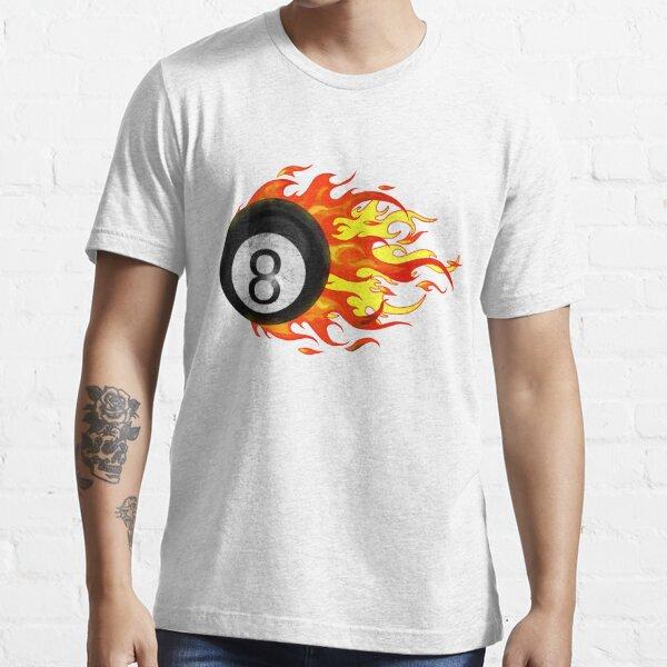 Flaming 8 Ball Essential T-Shirt