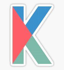 K Initial-TMHcoll Sticker