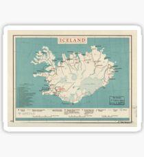 Map of Iceland (circa 1958) Sticker