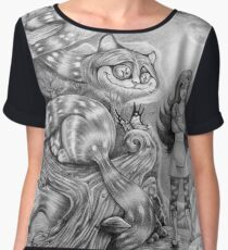 Alice and the Cheshire Cat Women's Chiffon Top