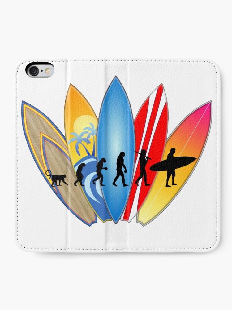 Alternative Ansicht von Surfer-Entwicklung iPhone Flip-Case