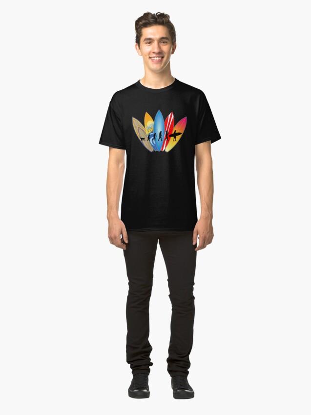 Alternative Ansicht von Surfer-Entwicklung Classic T-Shirt