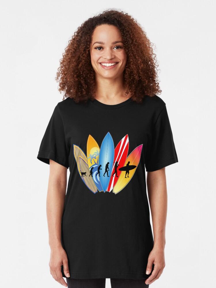 Alternative Ansicht von Surfer-Entwicklung Slim Fit T-Shirt