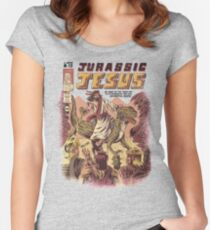 JURASSIC JESUS Fitted Scoop T-Shirt