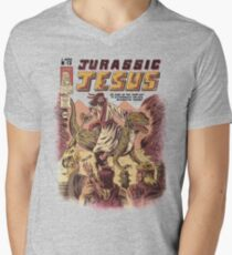JURASSIC JESUS Men's V-Neck T-Shirt