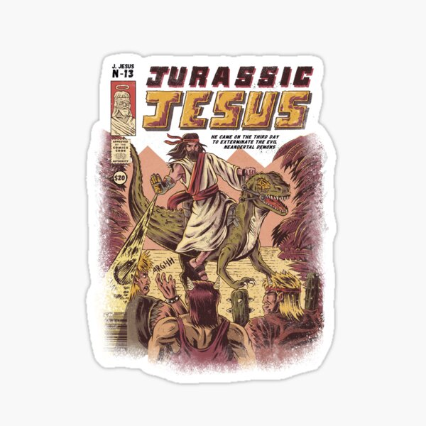 JURASSIC JESUS Sticker