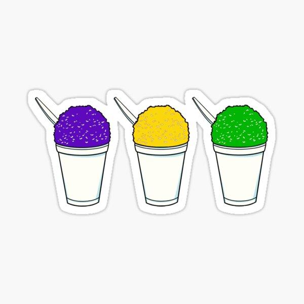 Mardi Gras Snoballs Sticker