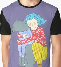 Girl and her dog Graphic T-Shirt