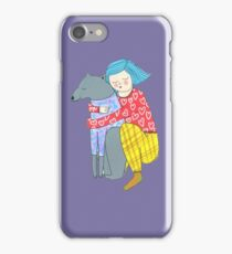 Girl and her dog iPhone Case/Skin