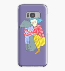 Girl and her dog Samsung Galaxy Case/Skin