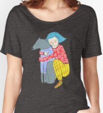 Girl and her dog Women's Relaxed Fit T-Shirt