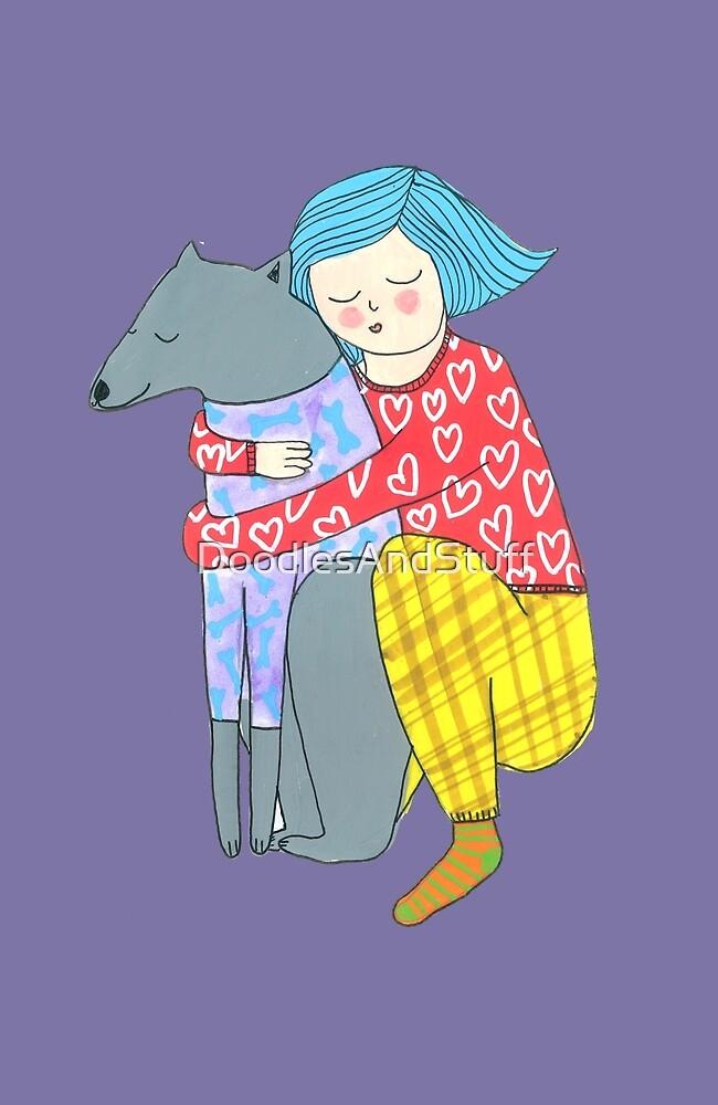 Girl and her dog by DoodlesAndStuff