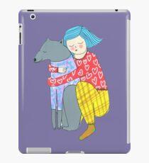 Girl and her dog iPad Case/Skin