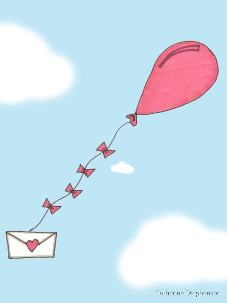 Valentine's Cards: Balloon Delivery by MADEBYCATHERINE