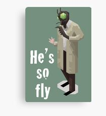He's so fly (white text for colour shirts) Canvas Print