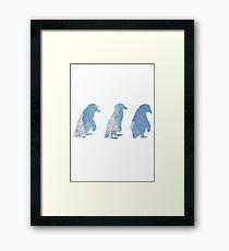 Penguin Trio Framed Print