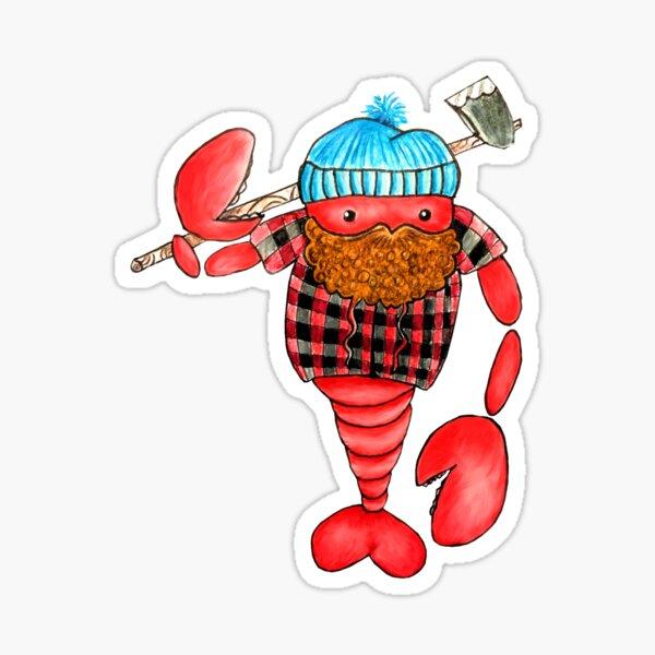 Maine Lumberjack Lobster Sticker