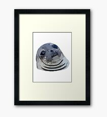 9GAG - Awkward moment seal - Cartoon Framed Print