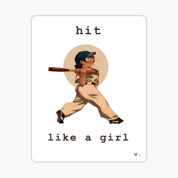 Hit Like a Girl Sticker