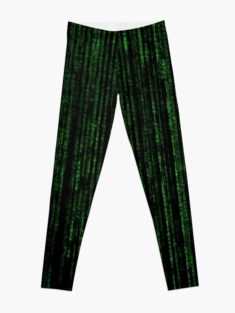 Alternate view of Matrix Code Pattern Leggings