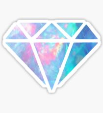 Opal Diamond Outline Sticker