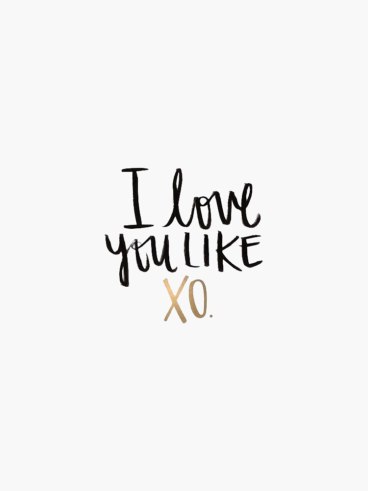 Love you like XO Card | The Little Marketplace on Madeit