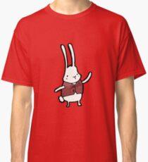 cartoon white rabbit in waistcoat  Classic T-Shirt