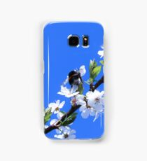 Bee and white flowers Samsung Galaxy Case/Skin