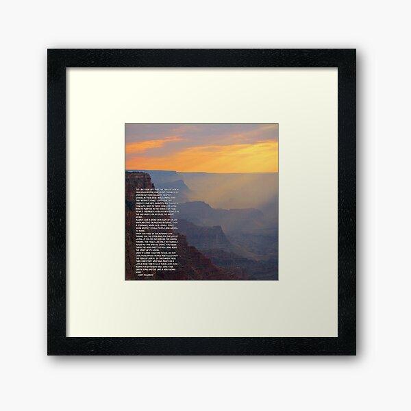 Tecumseh Gedicht Gerahmter Kunstdruck