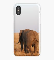Elephant walking away iPhone Case/Skin