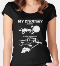 My Rocket League Strategy Video Game Funny Gifts Women's Fitted Scoop T-Shirt