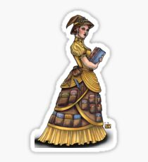 Library Witch by Bobbie Berendson W Sticker