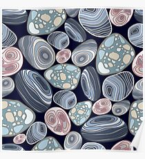 Pattern stones Poster