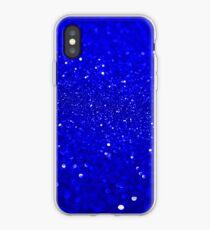 Heller blauer Glitter iPhone-Hülle & Cover