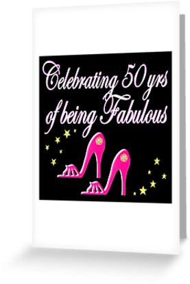 Pretty Pink Shoes 50th Birthday Diva Design Greeting Cards By
