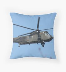 Royal Navy Helicopter. Throw Pillow
