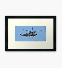 Royal Navy Helicopter. Framed Print