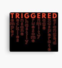 TRIGGERED (Synonyms - MEME) Canvas Print