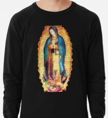 Our Lady of Guadalupe Virgin Mary Tilma Lightweight Sweatshirt