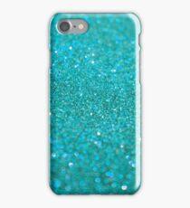 Bright Turquoise Glitter iPhone Case/Skin
