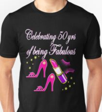 STYLISH 50 AND FABULOUS PINK DIVA DESIGN Unisex T-Shirt