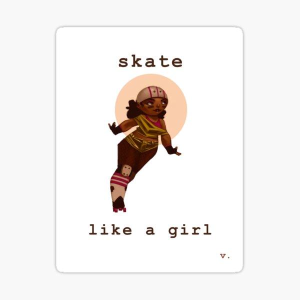 Skate Like a Girl Sticker