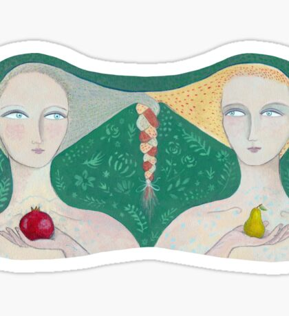 The Pear and the Pomegranate Sticker
