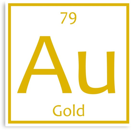 Gold Au Chemical Symbol Canvas Prints By The Elements Redbubble
