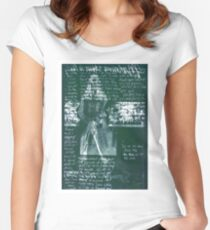 Fashion X-ray in Forrest Green Women's Fitted Scoop T-Shirt