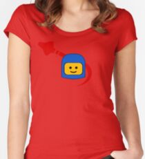 LEGO Classic Space Fan Women's Fitted Scoop T-Shirt