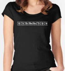 Overreaction - Periodic Table Women's Fitted Scoop T-Shirt
