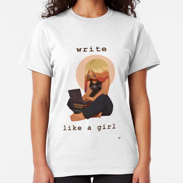 Write Like a Girl Classic T-Shirt